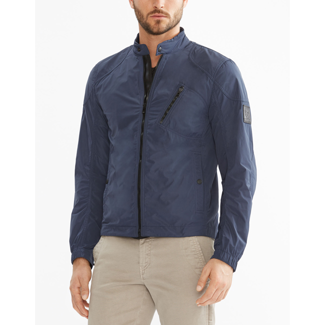Cheap Belstaff Men NAVY BLUE STAPLEFORD BLOUSON JACKET Online