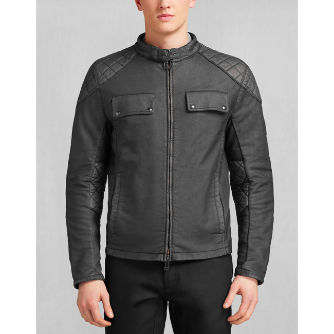 Cheap Belstaff Men BLACK XMAN RACING BLOUSON Online