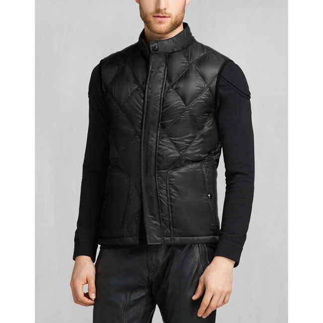 Cheap Belstaff Men BLACK WATKIN DOWN GILET Online