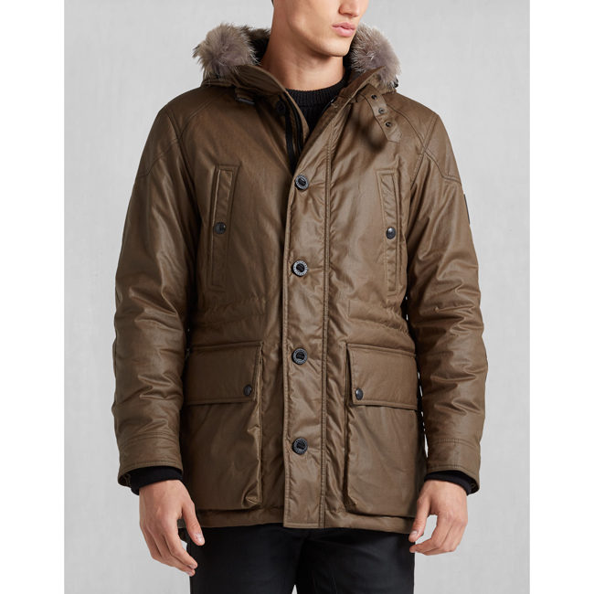 Cheap Belstaff Men WINDSOR MOSS PATHFINDER JACKET WITH FUR Online