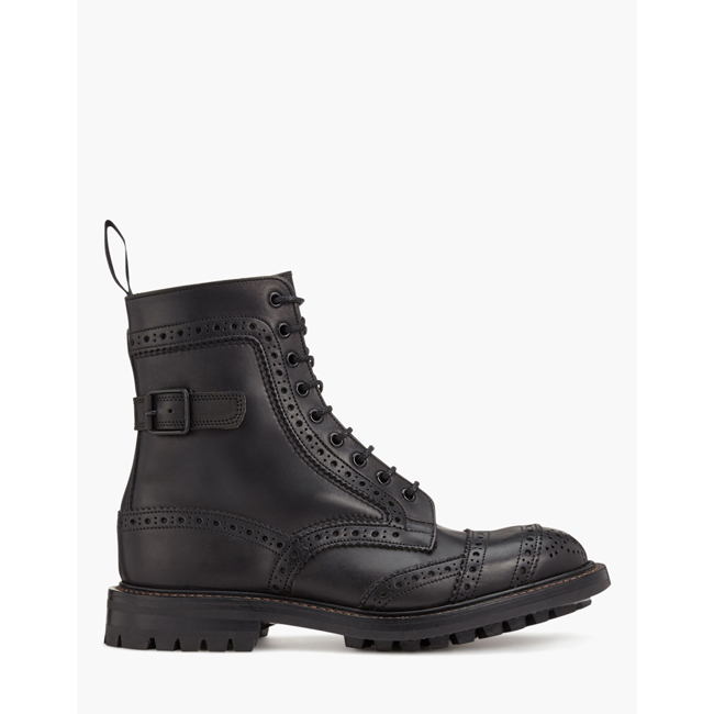 Cheap Belstaff Men BLACK TRICKER'S PHOENIX SHORT BOOTS Online