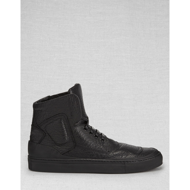 Cheap Belstaff Men BLACK ROMFORD SNEAKERS Online
