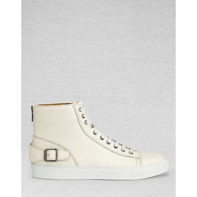 Cheap Belstaff Men OFF WHITE BOROUGH HIGH-TOP SNEAKERS Online