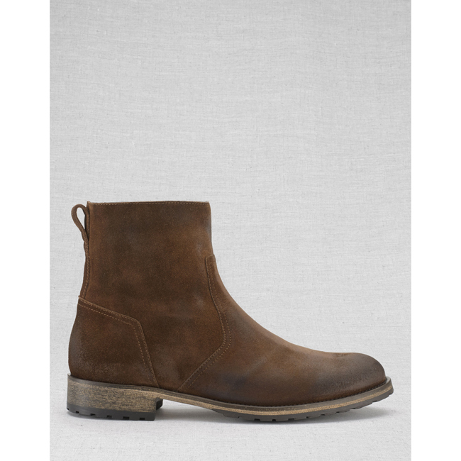 Cheap Belstaff Men OAK BROWN ATTWELL SHORT BOOTS Online