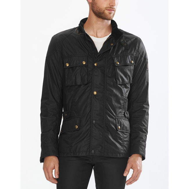 Cheap Belstaff Men BLACK CROSBY MOTORCYCLE JACKET Online