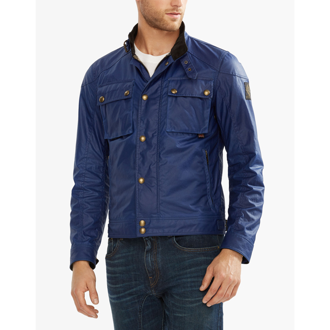 Cheap Belstaff Men COBALT BLUE RACEMASTER BLOUSON JACKET Online