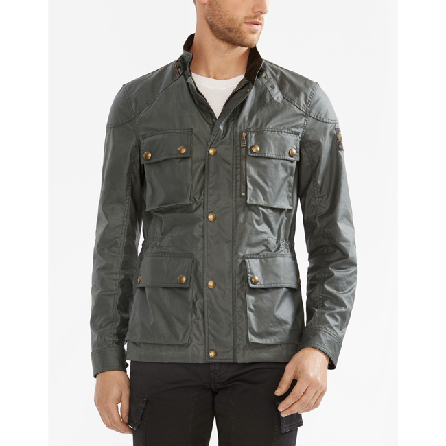 Cheap Belstaff Men ASH GREEN TRIALMASTER JACKET Online