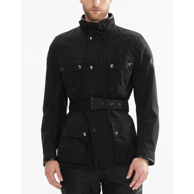 Cheap Belstaff Men BLACK SNAEFELL MOTORCYCLE JACKET Online