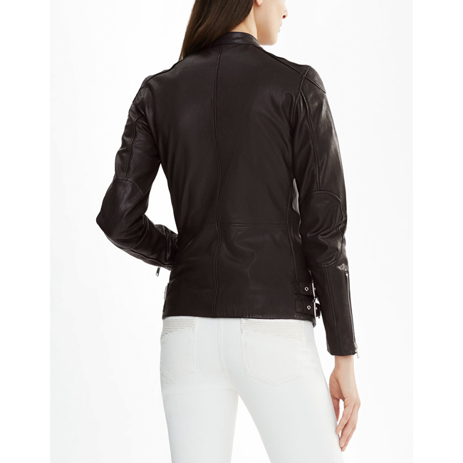 Cheap Belstaff Women BLACK BURNETT BIKER JACKET Online