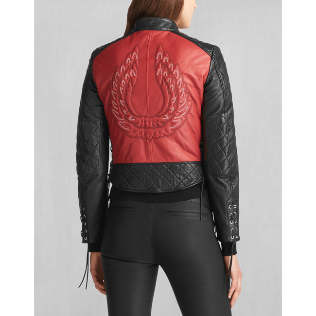 Cheap Belstaff Women BLACK/RED HENDRICKSON BLOUSON Online
