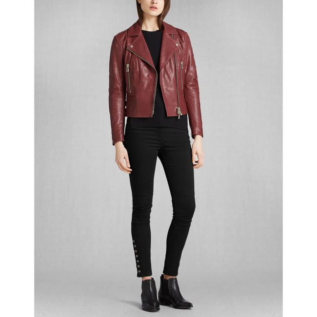 Cheap Belstaff Women CLARET MARVING-T BLOUSON Online