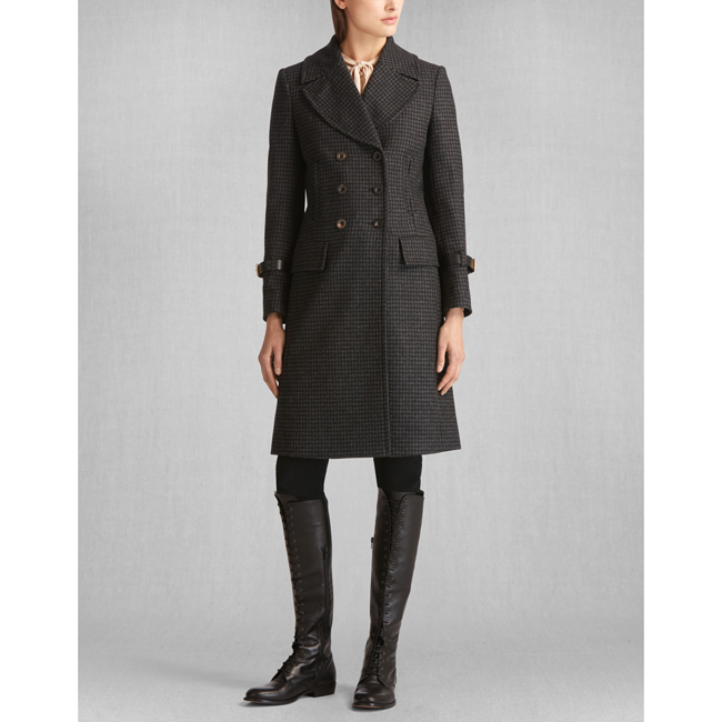 Cheap Belstaff Women BLACK/CHARCOAL LIV TYLER MILBURN COAT Online