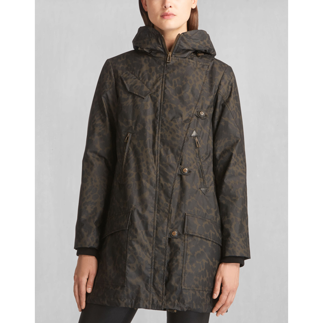 Cheap Belstaff Women SPINACH/BLACK HABLEDON COAT Online