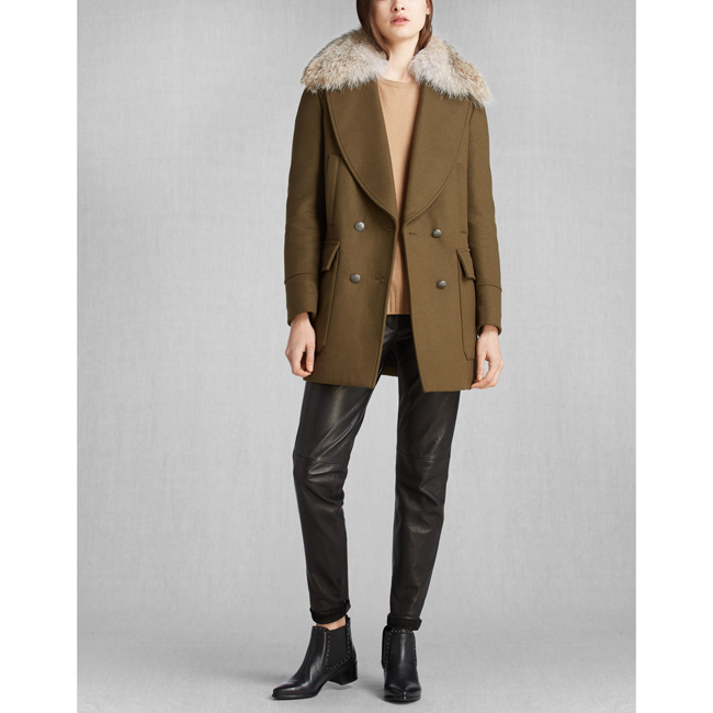 Cheap Belstaff Women SPINACH WHITNEY COAT WITH FUR Online