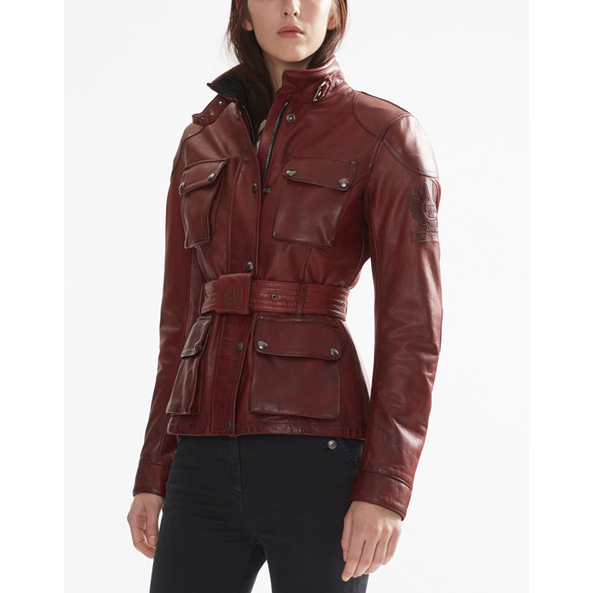 Cheap Belstaff Women BURNISHED RED CLASSIC TOURIST TROPHY JACKET Online