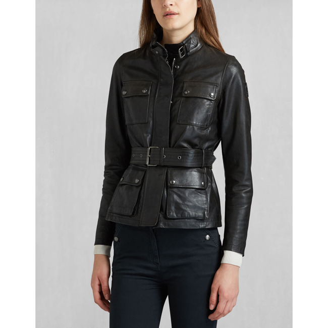 Cheap Belstaff Women BLACK TRIUMPH 2.0 JACKET Online