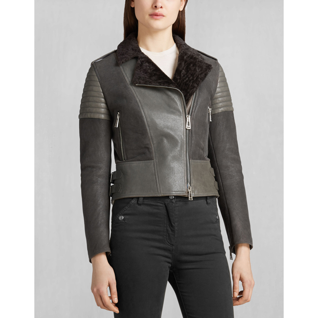Cheap Belstaff Women CHARCOAL ELLSWORTH BLOUSON Online