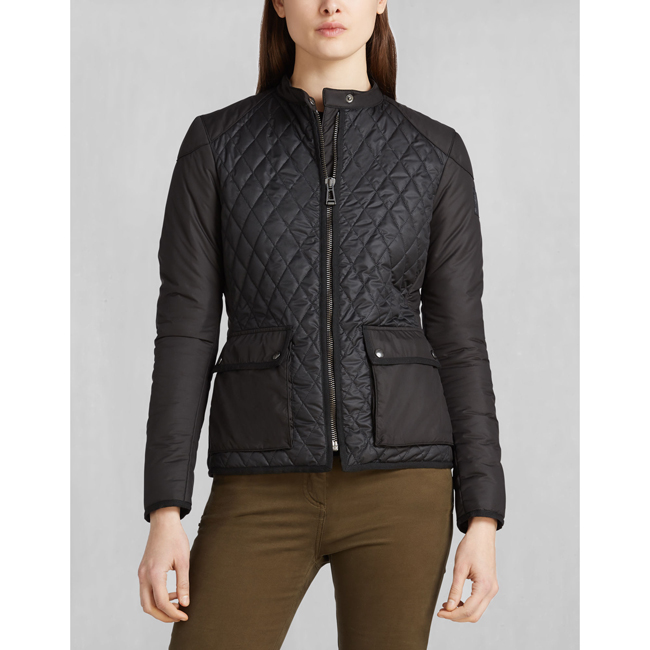 Cheap Belstaff Women BLACK RANDALL QUILTED JACKET Online