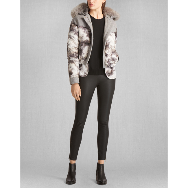 Cheap Belstaff Women GREY/GREY WILKINS DOWN BLOUSON WITH FUR Online