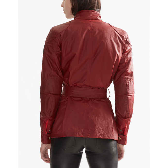 Cheap Belstaff Women  RACING RED CLASSIC TOURIST TROPHY 4-POCKET MOTORCYCLE JACKET Online