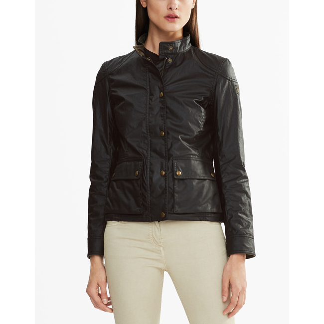 Cheap Belstaff Women BLACK LONGHAM JACKET Online