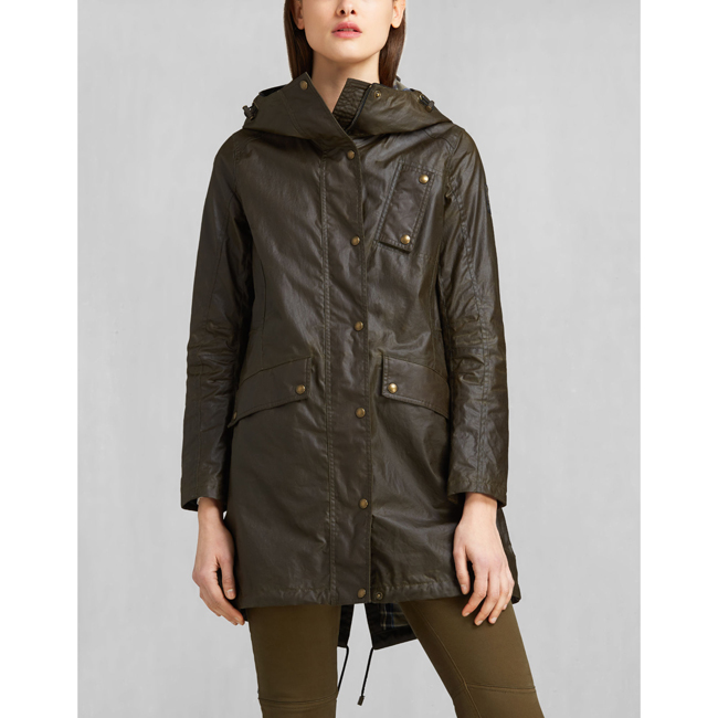 Cheap Belstaff Women FADED OLIVE PAYNE PARKA Online