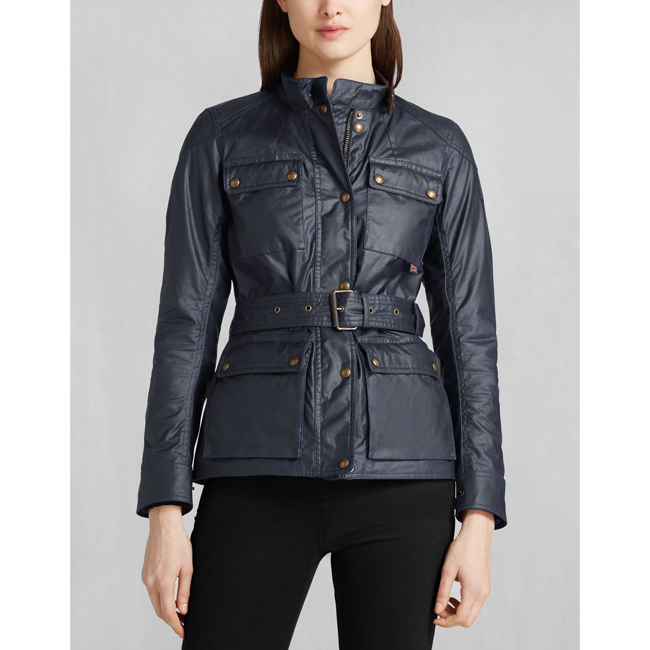 Cheap Belstaff Women NAVY BLUE ROADMASTER JACKET Online